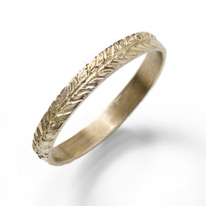 Feather Chevron Wedding Band