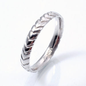 Chevron Wedding Band