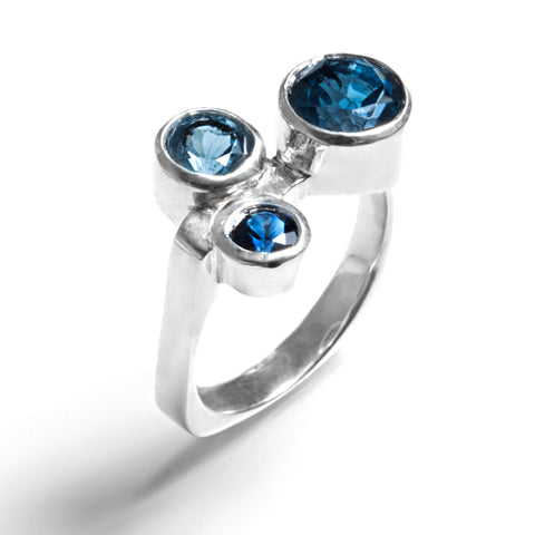 family birthstones turquoise 14k white gold