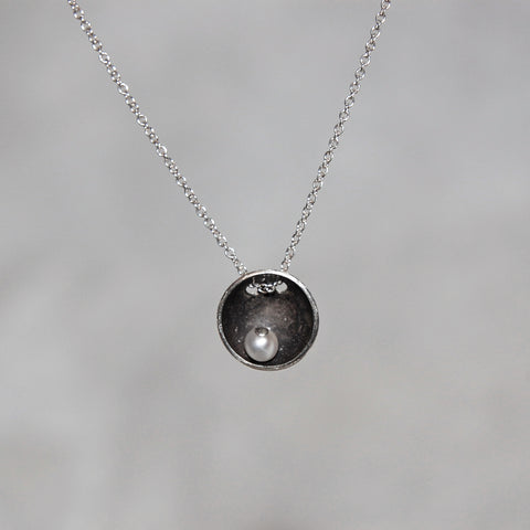 Satellite Pendant with Stone