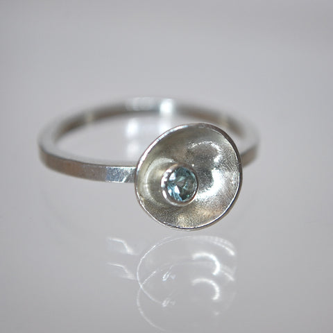 Satellite Ring with Stone
