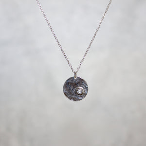 Small Meteor Pendant with Stone