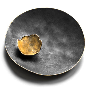 Extra Large Satellite Brooch & Pendant with Gold Leaf