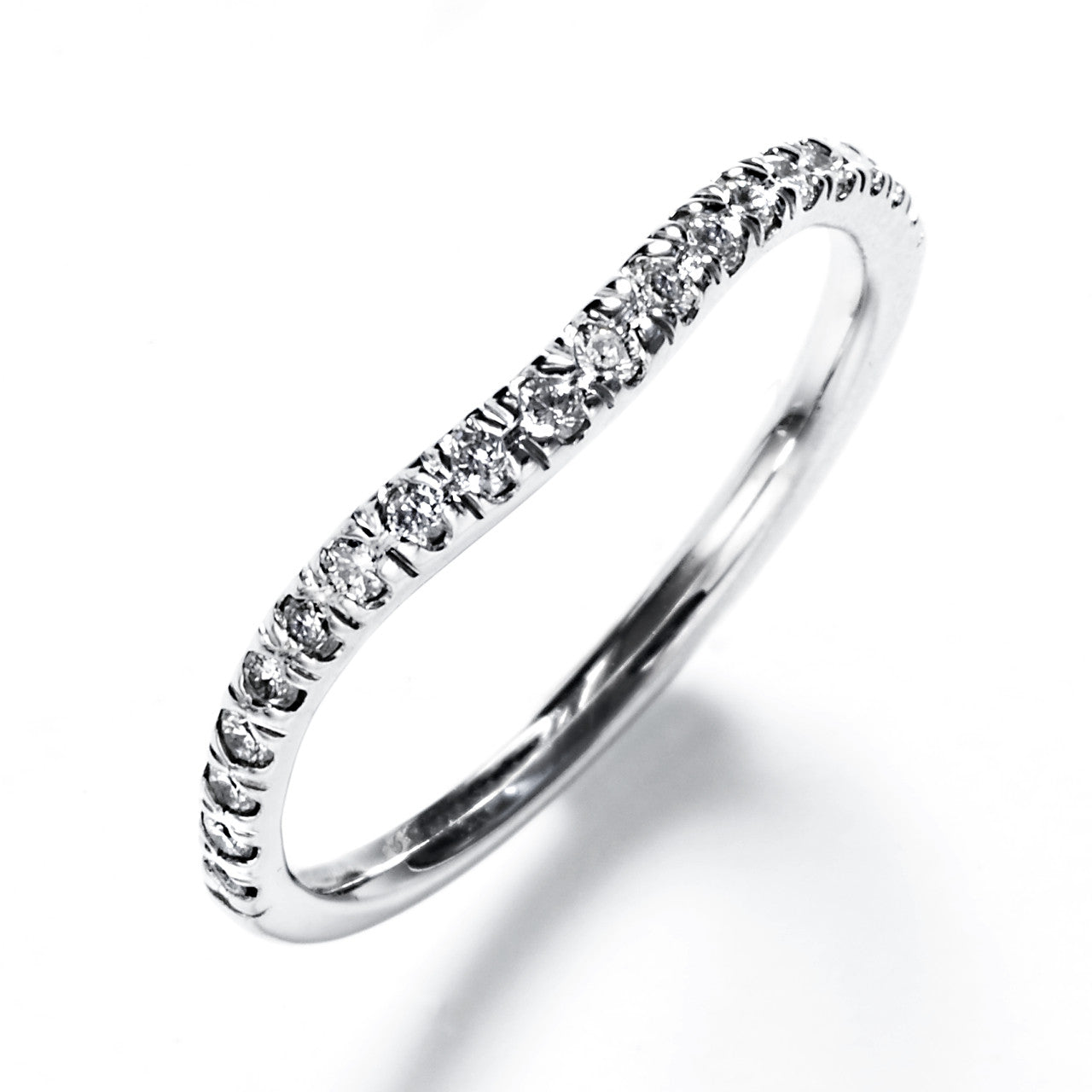 Diamond Pavé Contour Wedding Band