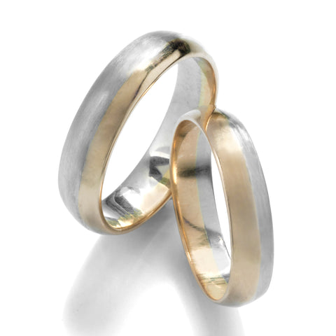 heirloom family 14k yellow white gold green wedding bands