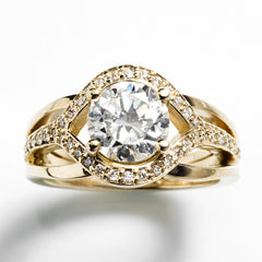 Growing Together heirloom diamond engagement ring