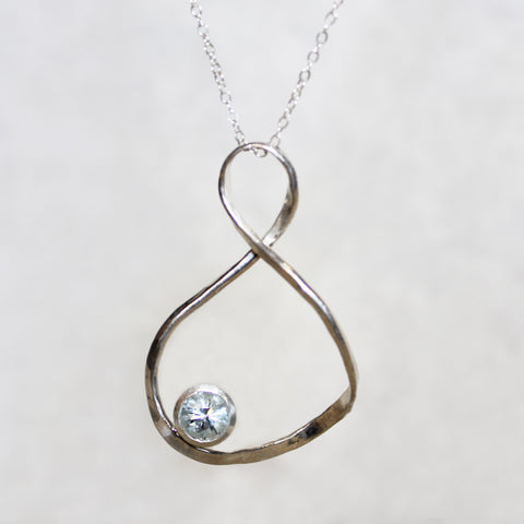 Infinity Necklace with Stone
