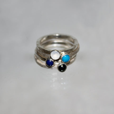 Comet Ring with Stones