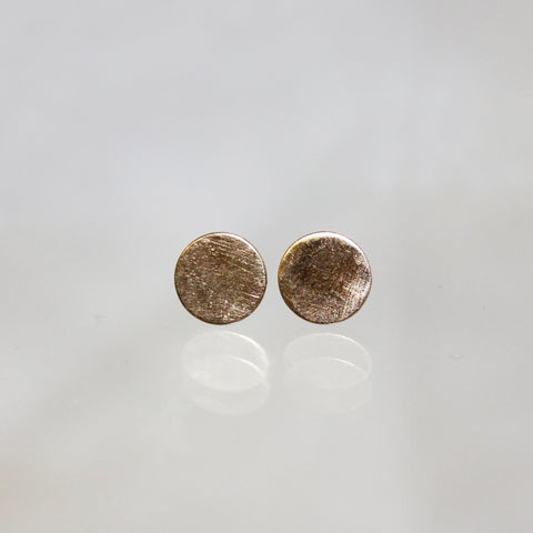 14K Yellow Gold Meteor Studs