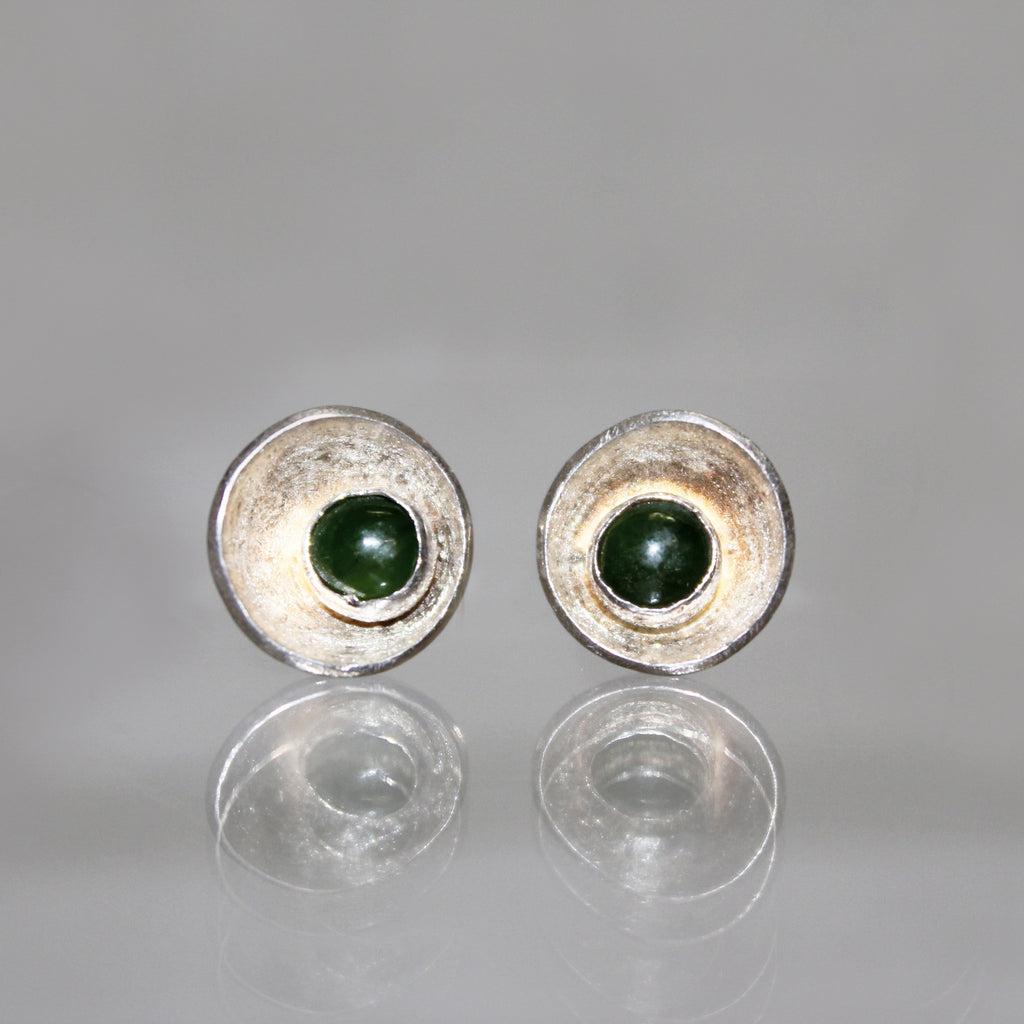 Satellite Studs with Jade