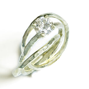 Interconnected Solitaire Engagement Ring