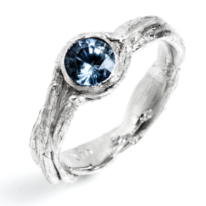 Nesting Engagement Ring with Sapphire
