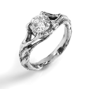 Nesting Engagement Ring with Prongs