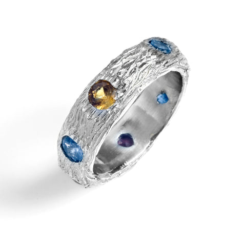 Tree Texture Eternity Band