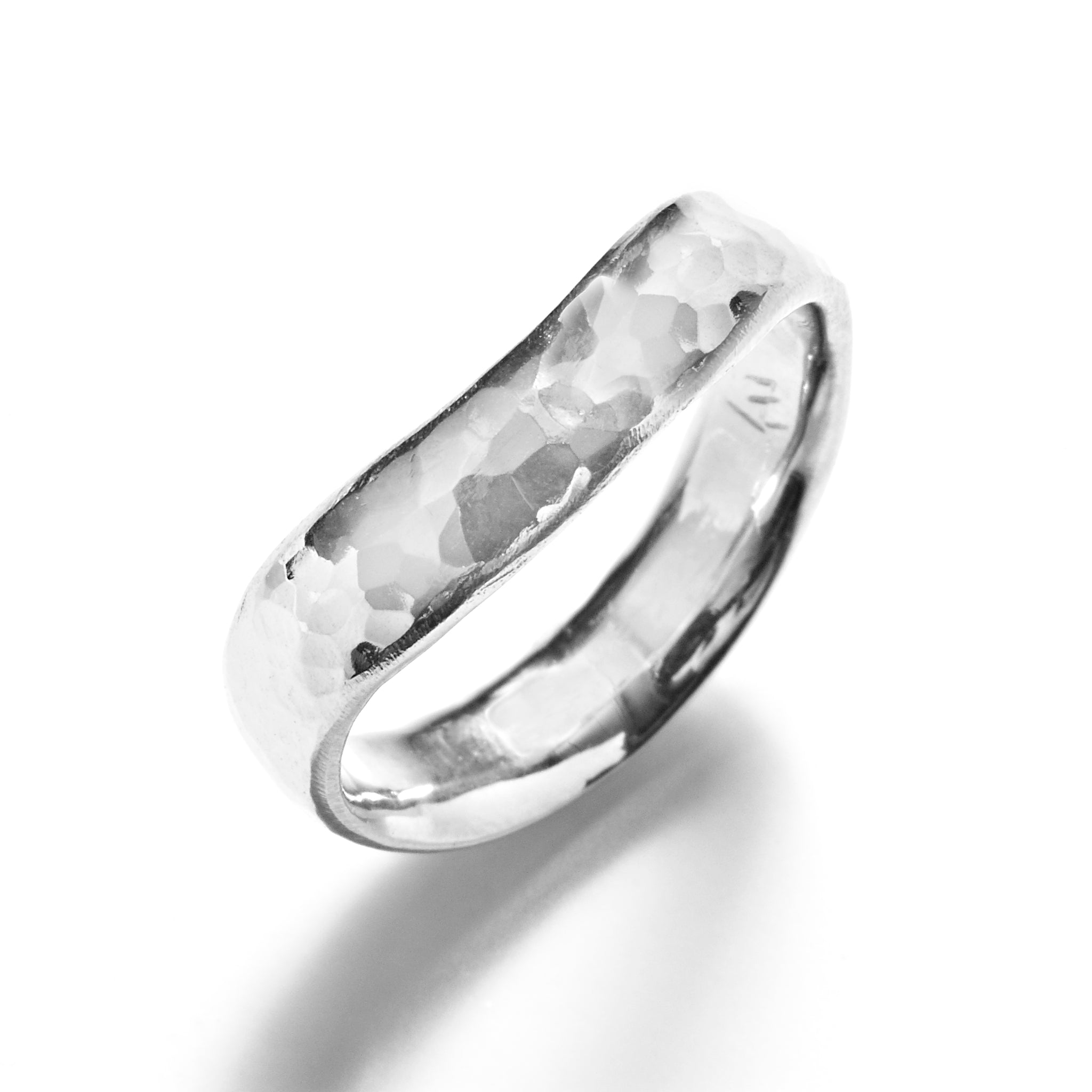 Hammered Wave Ring