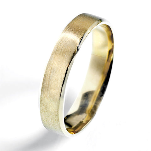 4.5mm Flat Beveled Comfort Fit Wedding Band
