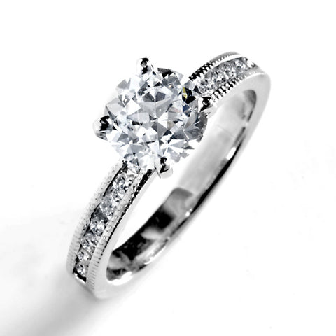 Principesa Prong Set Brilliant Solitaire Engagement Ring