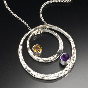 Concentric Pendant with Stones