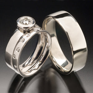 Flat Comfort-fit Bezel Wedding & Engagement Ring