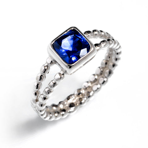 Beaded Split-Shank Ring
