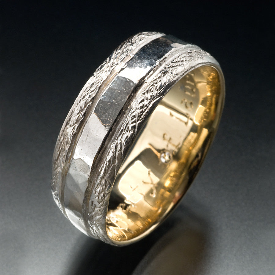 Two-toned Men's Wedding Band