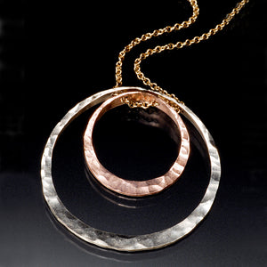 Golden Concentric Necklace