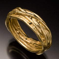 18k yellow gold nesting ring wedding band