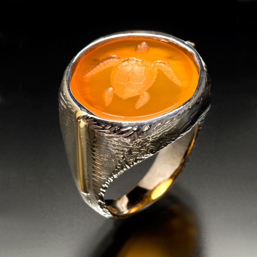 Turtle Signet Ring