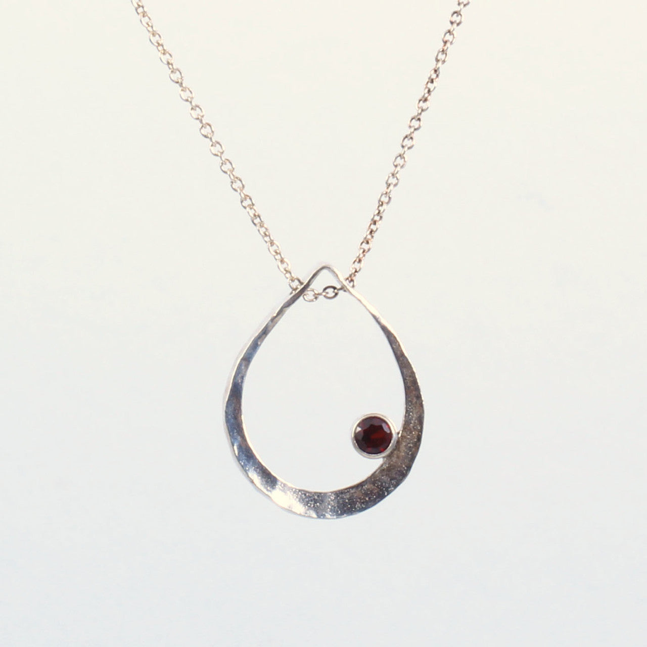 Small Raindrop Pendant with Stone