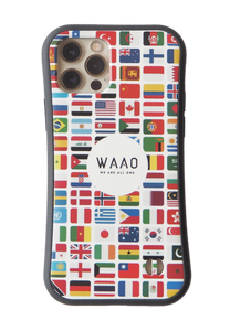 World Flag White Grip Phone Case