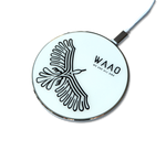 WAAO Silver LED Wireless Charger