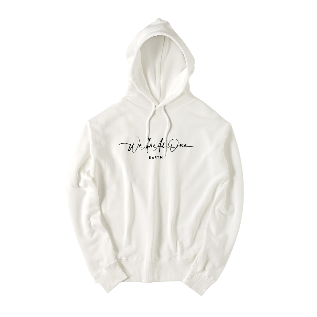 """We Are All One"" - White Pocketless Hoodie"