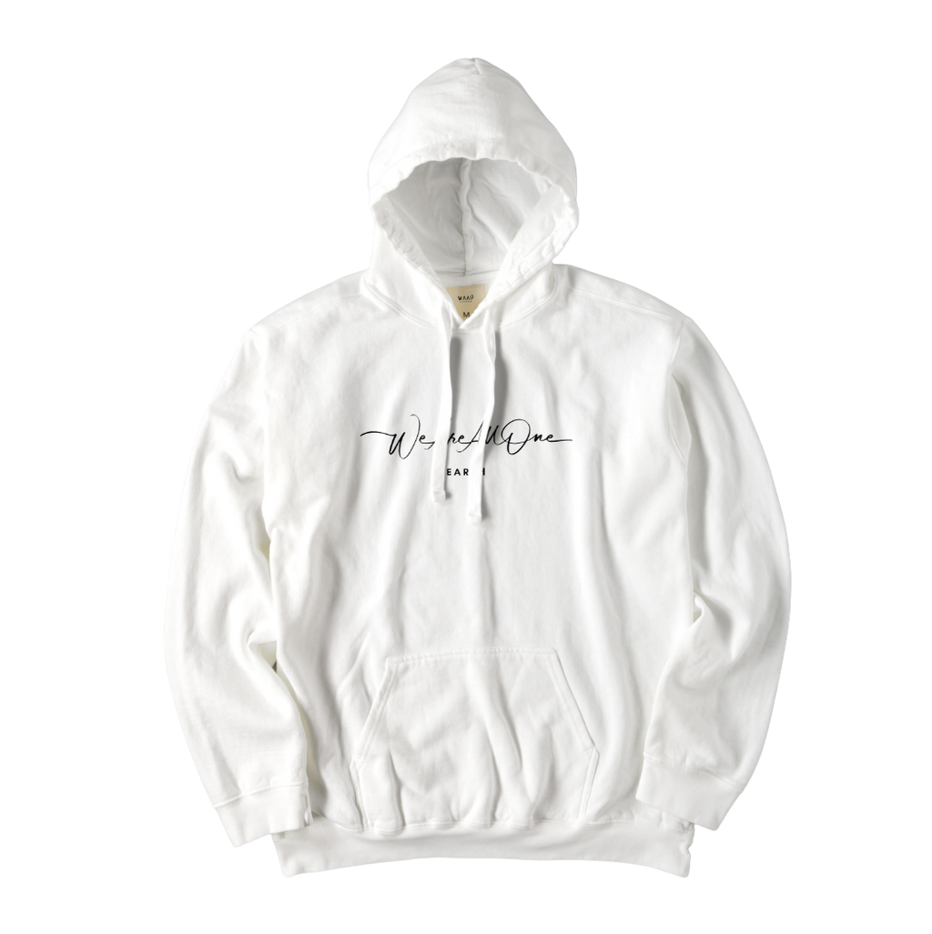 """We Are All One"" Vintage White Hoodie"