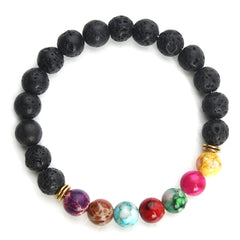 Jewelry colorful emperor stone volcanic stone beads bracelet beaded energy stone diy bracelet