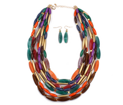 Fashion Color Beads Multi-layer Jewelry Set