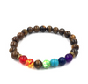Image of Agate molten rock 8mm energy volcanic stone chakra colorful beads bracelet string