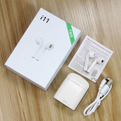 i11s TWS Mini Wireless Earphones bluetooth Earpieces Stereo Earbud Headset With Charging box Earphones For Samsung Smart Ear Aid
