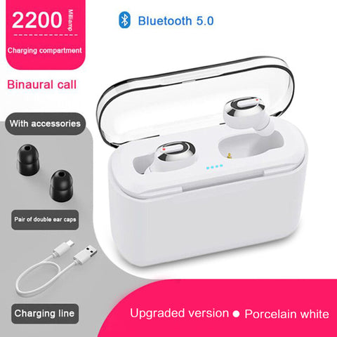 KSUN BT-01 TWS 5.0 Bluetooth earphone 3D stereo wireless earphone with dual microphone