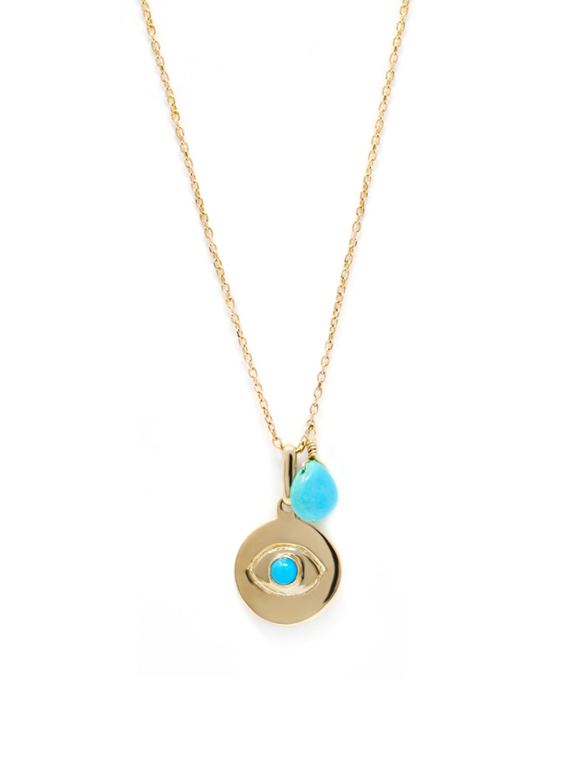 Evil Eye Disk Necklace