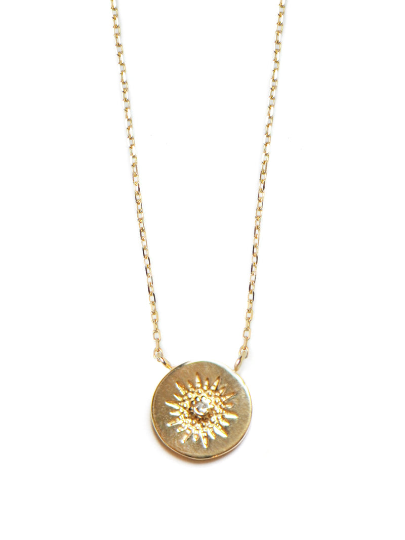 Disk Milly Burst Pendant Necklace