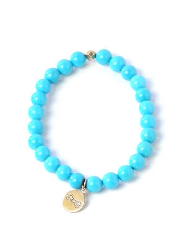 Bohème Dog Bone Sleeping Beauty Turquoise Bracelet