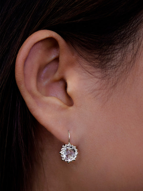 Dew Drop Snowflake Earrings