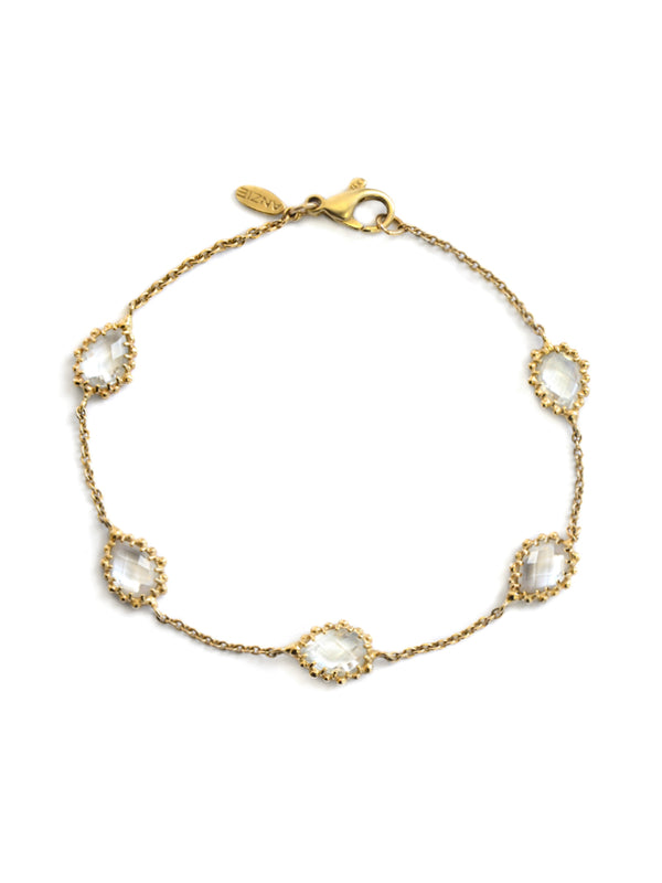 Dew Drop Pear Link Bracelet