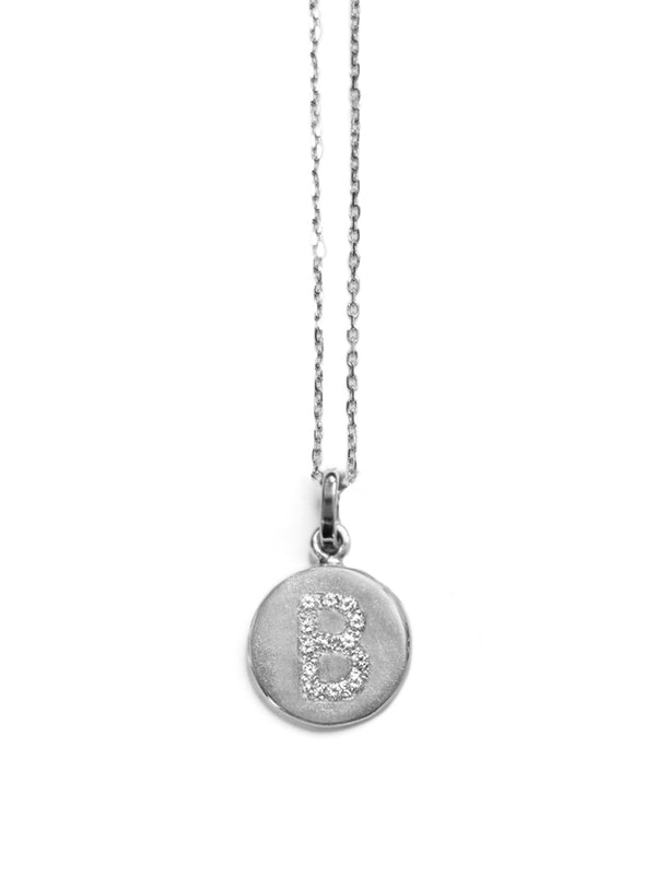 Disk Silver Pendant Necklace