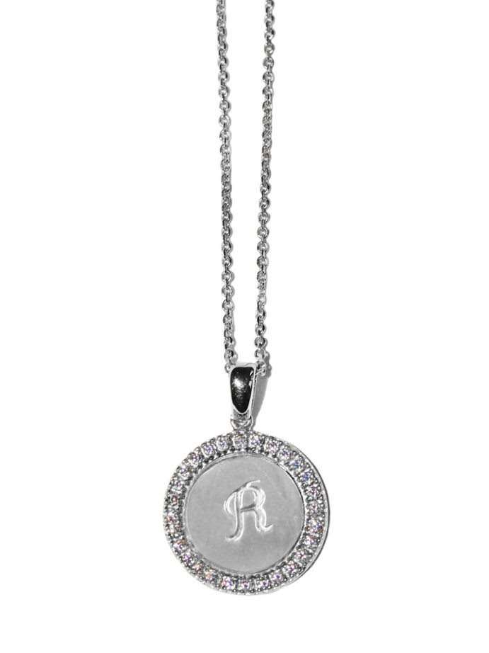 Silver Royale Initial Necklace - Letter R