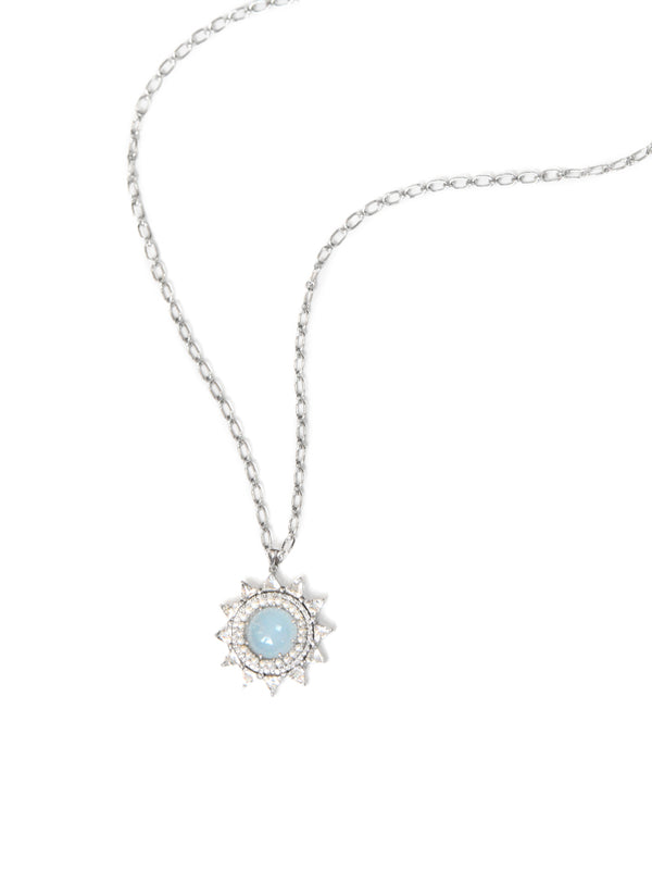 Aztec Pave Sun Necklace