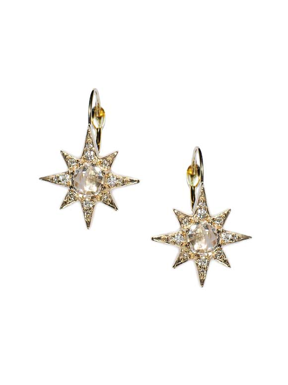 Mini Aztec Starburst Earrings