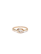 Dew Drop Pear Stackable Ring