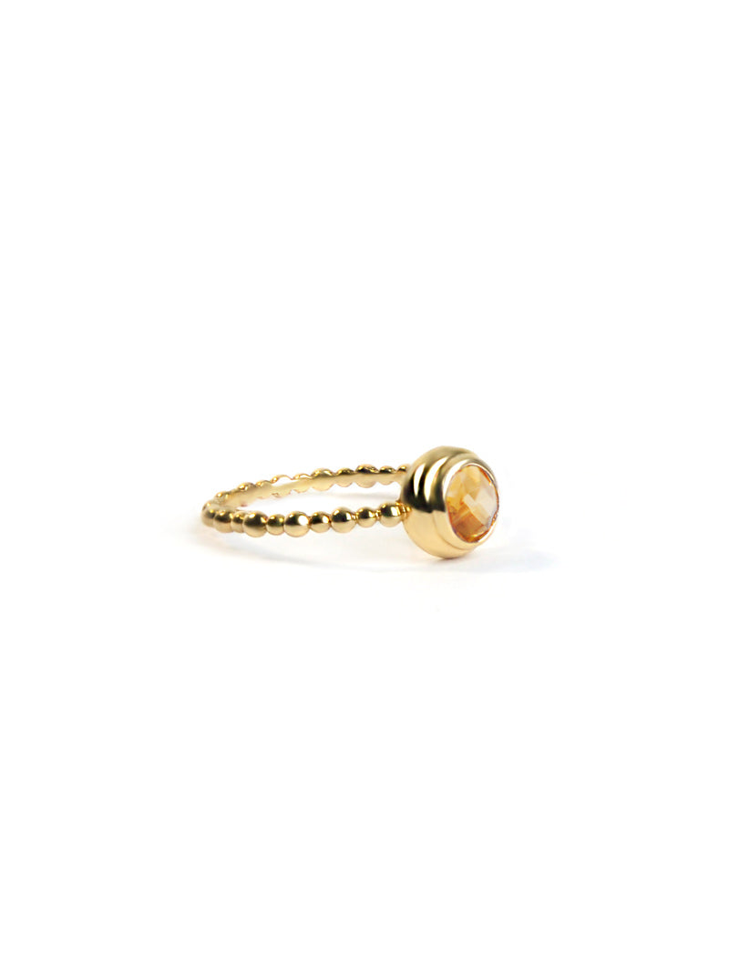 Dew Drop Round Stackable Ring