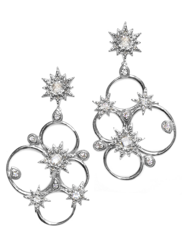 Aztec Starburst Cluster Earrings